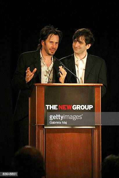 Actor Josh Hamilton and playwright Jonathan Marc Sherman attend the New Group's 2008 Gala at Pier 60 Chelsea Piers on November 10 2008 in New York...