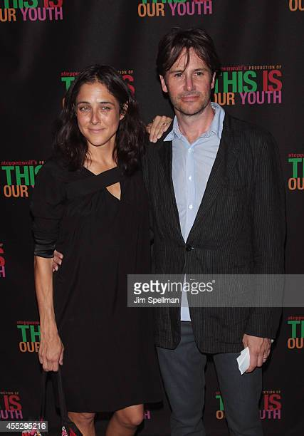 Actor Josh Hamilton and wife Lily Thorne attend the This Is Our Youth Broadway Opening Night at the Cort Theatre on September 11 2014 in New York City