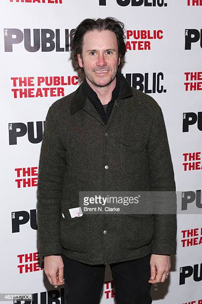 Actor Josh Hamilton arrives for the opening night celebration of Hamilton at The Public Theater on February 17 2015 in New York City