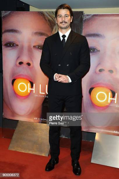 Actor Josh Hartnett attends the 'Oh Lucy' Paris Premiere at UGC Cine Cite des Halles on January 15 2018 in Paris France