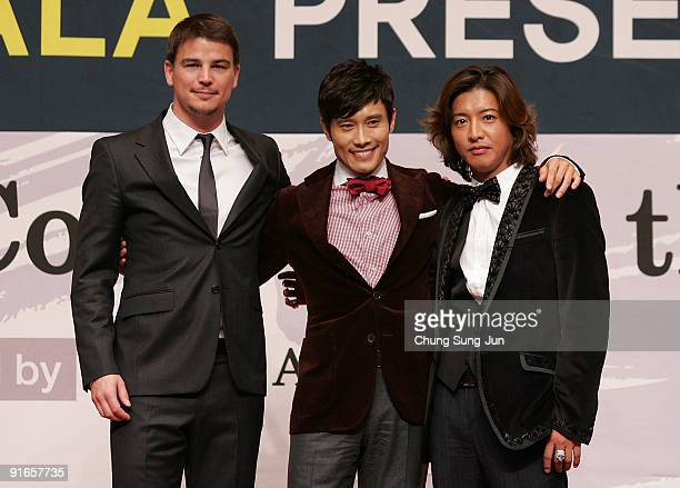 Actor Josh Hartnett Lee ByungHun and Takuya Kimura attend at the Press ConferenceGala Presentation 'I Come with the Rain' during the 14th Pusan...