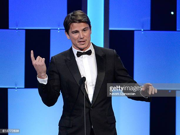 Actor Josh Hartnett speaks onstage at the 30th Annual American Cinematheque Awards Gala at The Beverly Hilton Hotel on October 14, 2016 in Beverly...