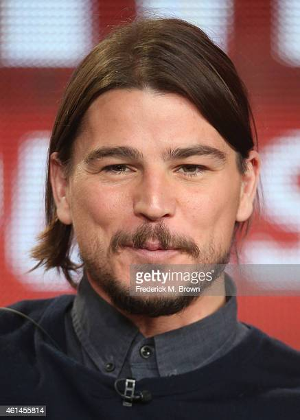 Actor Josh Hartnett speaks onstage during the 'Penny Dreadful - Season Two' panel as part of the CBS/Showtime 2015 Winter Television Critics...