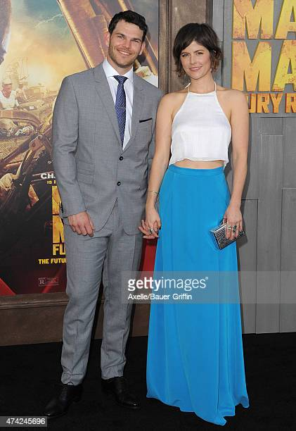 Actor Josh Helman and Jennifer Allcott arrive at the Los Angeles premiere of 'Mad Max: Fury Road' at TCL Chinese Theatre IMAX on May 7, 2015 in...