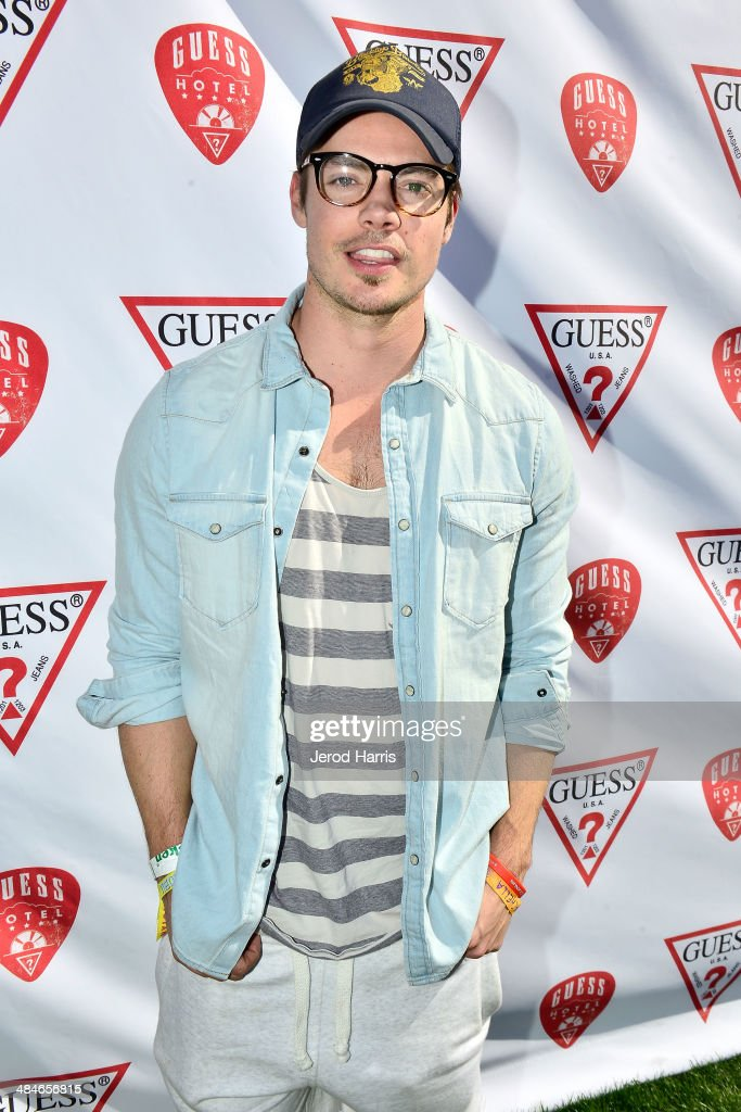 Actor Josh Henderson attends the GUESS Hotel at the Viceroy Palm Springs on April 13, 2014 in Palm Springs, California.