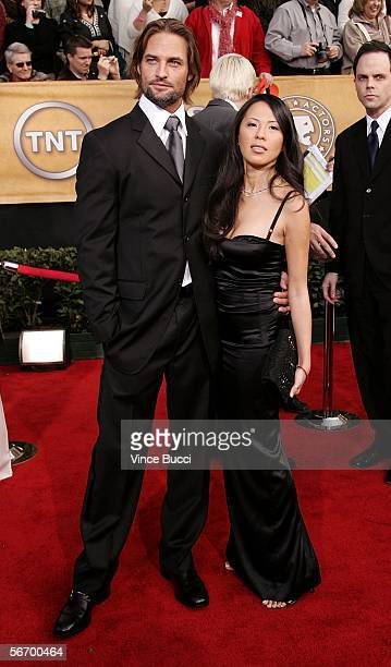 Actor Josh Holloway and wife Yessica Kumula arrive at the 12th Annual Screen Actors Guild Awards held at the Shrine Auditorium on January 29, 2006 in...