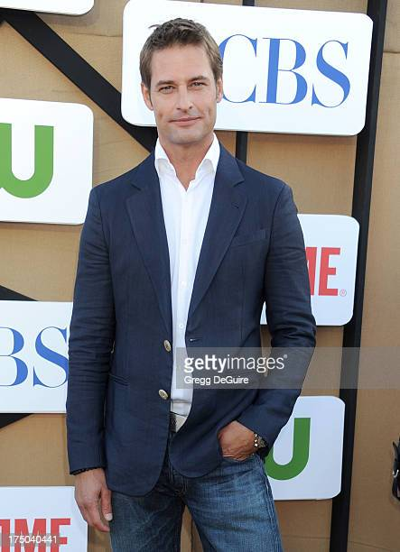 Actor Josh Holloway arrives at the CBS/CW/Showtime Television Critic Association's summer press tour party at 9900 Wilshire Blvd on July 29 2013 in...