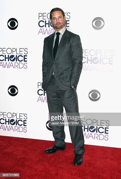 Actor Josh Holloway poses in the press room during the People's Choice Awards 2016 at Microsoft Theater on January 6 2016 in Los Angeles California