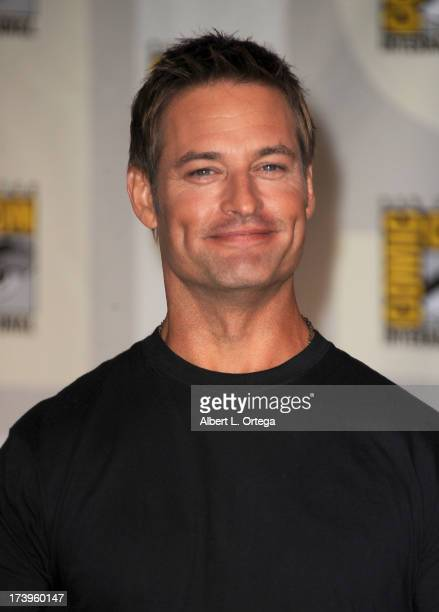 Actor Josh Holloway speaks onstage at the 'Intelligence' panel during ComicCon International 2013 at San Diego Convention Center on July 18 2013 in...