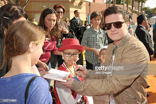 Actor Josh Hutcherson arrives at Nickelodeon's 25th Annual Kids' Choice Awards held at Galen Center on March 31 2012 in Los Angeles California