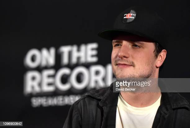 Actor Josh Hutcherson arrives at the grand opening celebration at On The Record Speakeasy and Club at Park MGM on January 19 2019 in Las Vegas Nevada