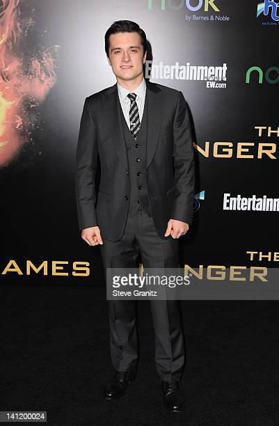 """Actor Josh Hutcherson arrives at """"The Hunger Games"""" Los Angeles premiere held at Nokia Theatre L.A. Live on March 12, 2012 in Los Angeles, United..."""