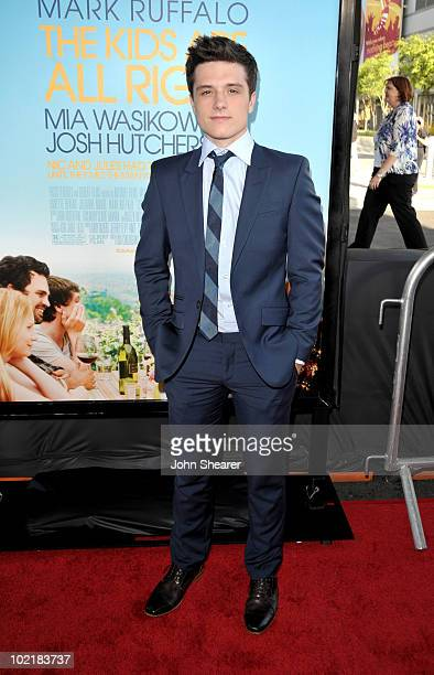"""Actor Josh Hutcherson arrives at """"The Kids Are All Right"""" premiere during the 2010 Los Angeles Film Festival held at Regal Cinemas at LA Live..."""