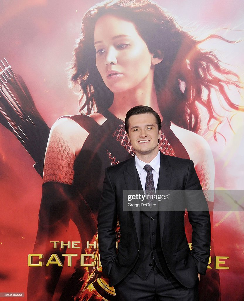Actor Josh Hutcherson arrives at the Los Angeles premiere of 'The Hunger Games: Catching Fire' at Nokia Theatre L.A. Live on November 18, 2013 in Los Angeles, California.