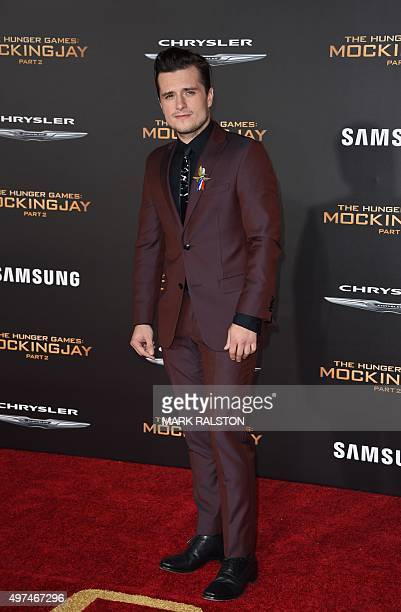 Actor Josh Hutcherson arrives for the premiere of Lionsgate's 'The Hunger Games: Mockingjay - Part 2' at Microsoft Theater in Los Angeles, California...