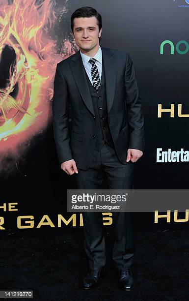 """Actor Josh Hutcherson arrives to the premiere of Lionsgate's """"The Hunger Games"""" at Nokia Theatre L.A. Live on March 12, 2012 in Los Angeles,..."""