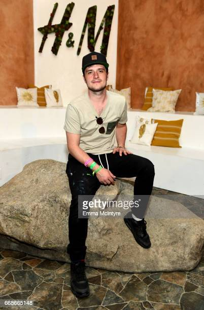 Actor Josh Hutcherson attends HM Loves Coachella Tent during day 1 of the Coachella Valley Music Arts Festival at the Empire Polo Club on April 14...