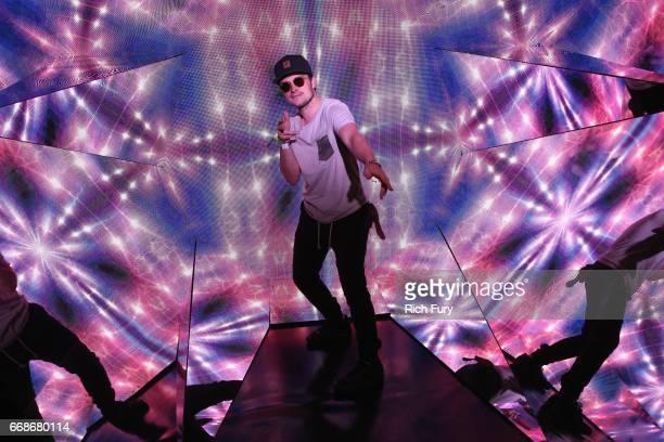 Actor Josh Hutcherson attends HM Loves Coachella Tent during day 1 of the Coachella Valley Music Arts Festival at the Empire Polo Club on April 14...