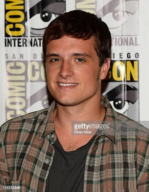 Actor Josh Hutcherson attends Lionsgate's The Hunger Games Catching Fire and I Frankenstein press line during ComicCon International 2013 at the...