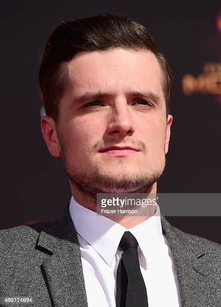 Actor Josh Hutcherson attends Lionsgate's The Hunger Games Mockingjay Part 2 Hand and Footprint Ceremony at TCL Chinese Theatre on October 31 2015 in...