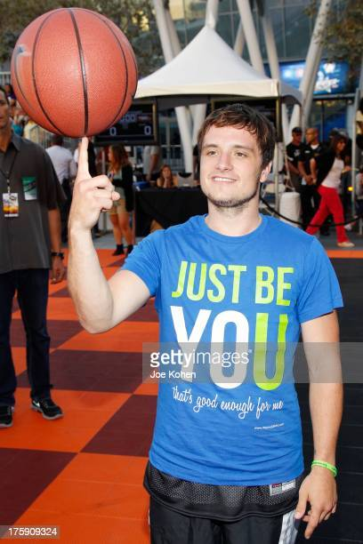 Actor Josh Hutcherson attends the 2nd Annual Josh Hutcherson Celebrity Basketball Game Benefitting Straight But Not Narrow at LA LIVE on August 9...