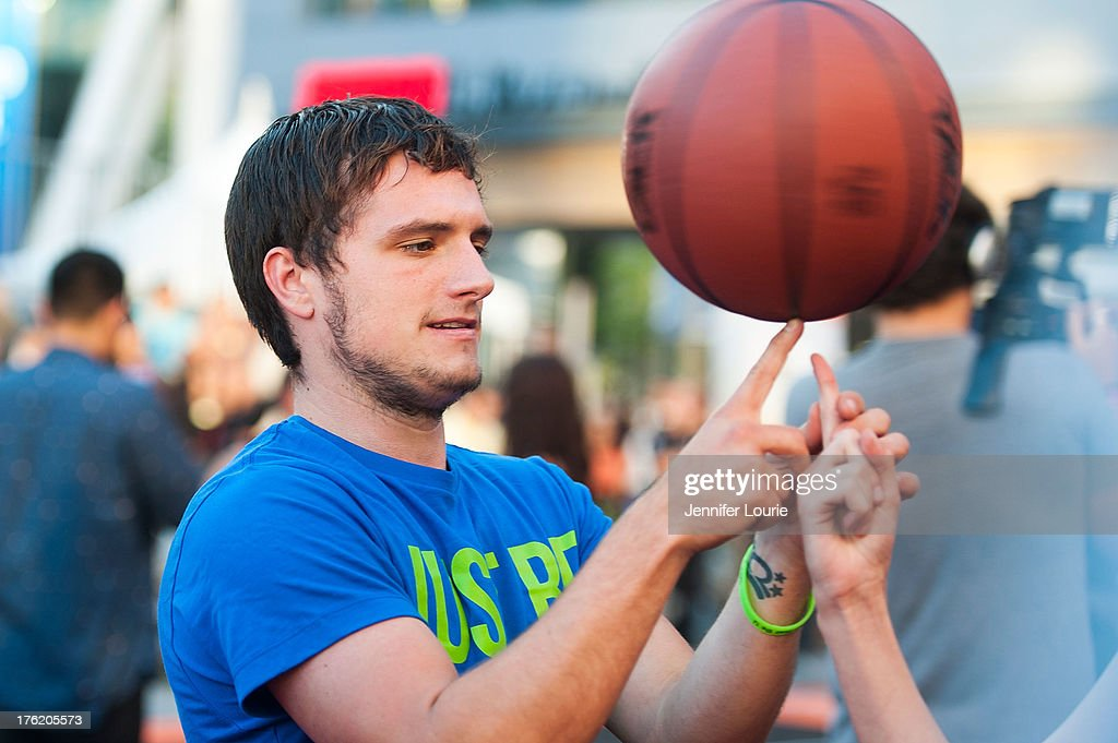 Actor Josh Hutcherson attends the 5th annual Nike basketball 3ON3 tournament presented by NBC4 southern california held at L.A. LIVE on August 9, 2013 in Los Angeles, California.