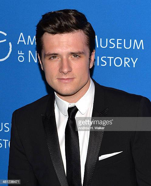 Actor Josh Hutcherson attends the American Museum Of Natural History's 2013 Museum Gala at American Museum of Natural History on November 21 2013 in...