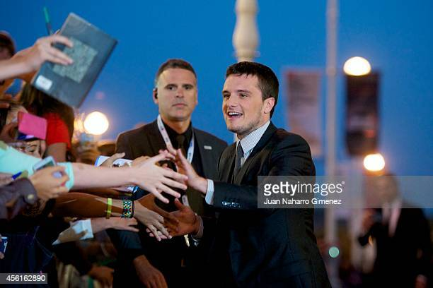 Actor Josh Hutcherson attends the 'Escobar Paradise Lost' premiere during the 62nd San Sebastian International Film Festival at the Victoria Eugenia...