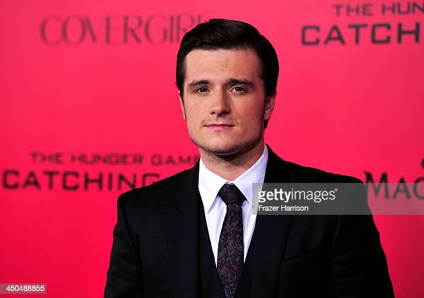 Actor Josh Hutcherson attends the premiere of Lionsgate's 'The Hunger Games Cathching Fire' at Nokia Theatre LA Live on November 18 2013 in Los...