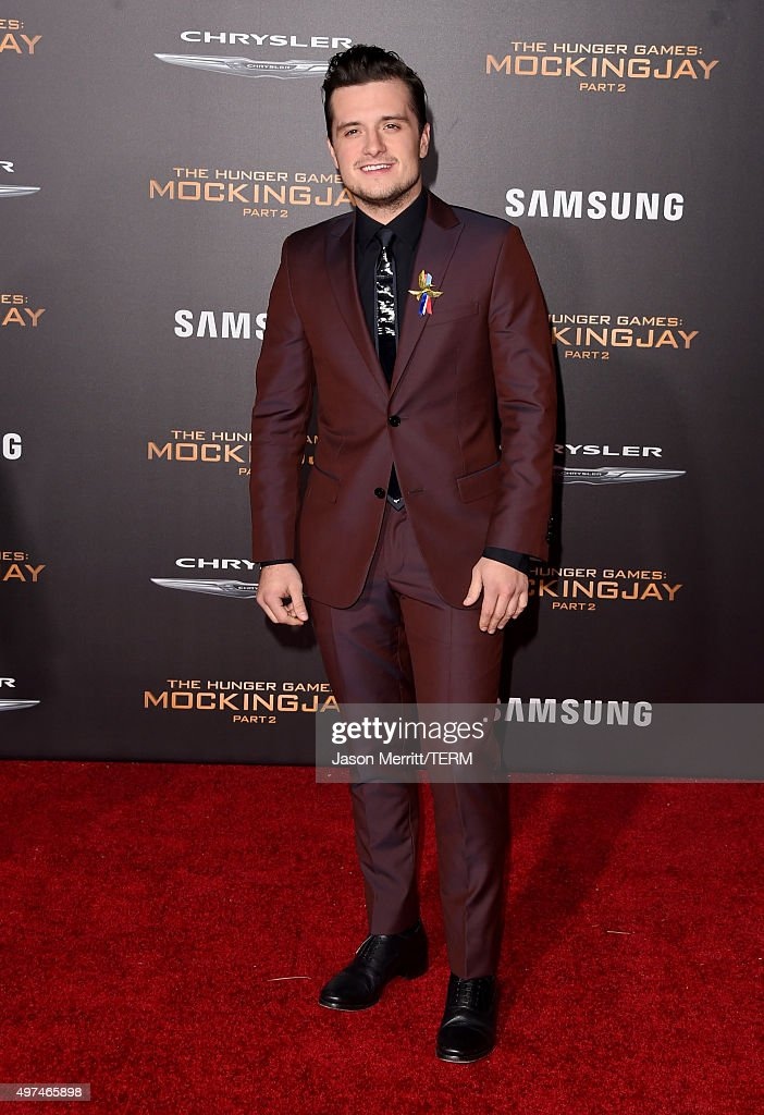 Actor Josh Hutcherson attends the premiere of Lionsgate's 'The Hunger Games: Mockingjay - Part 2' at Microsoft Theater on November 16, 2015 in Los Angeles, California.