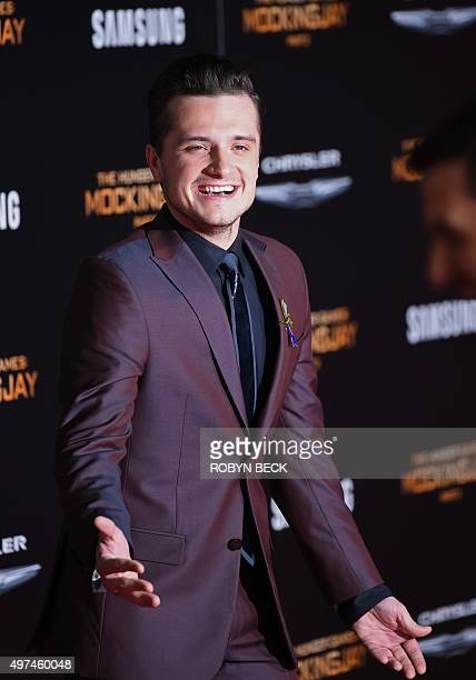 """Actor Josh Hutcherson attends the premiere of """"The Hunger Games: Mockingjay - Part 2"""" at the Microsoft Theater in Los Angeles, California, November..."""