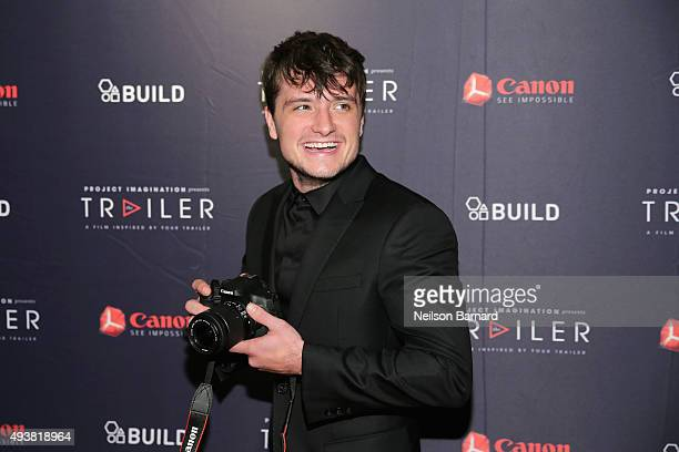 Actor Josh Hutcherson attends the Premiere of The Rusted a short film for Canon's Project Imagination The Trailer at AOL Build on October 22 2015 in...