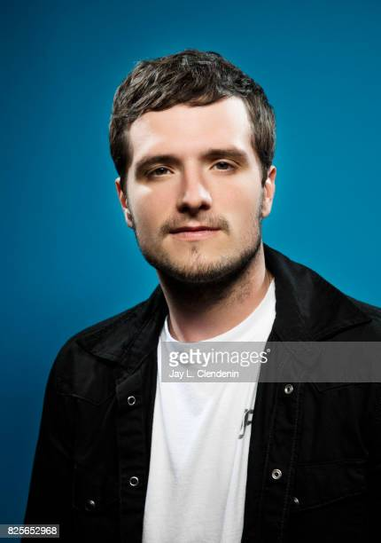 Actor Josh Hutcherson from the television series Future Man is photographed in the LA Times photo studio at ComicCon 2017 in San Diego CA on July 22...