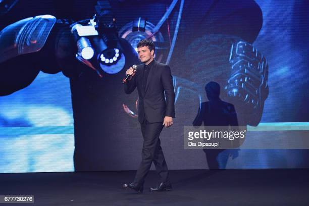 Actor Josh Hutcherson of 'Future Man' speaks onstage during the Hulu Upfront presentation at The Theater at Madison Square Garden on May 3 2017 in...
