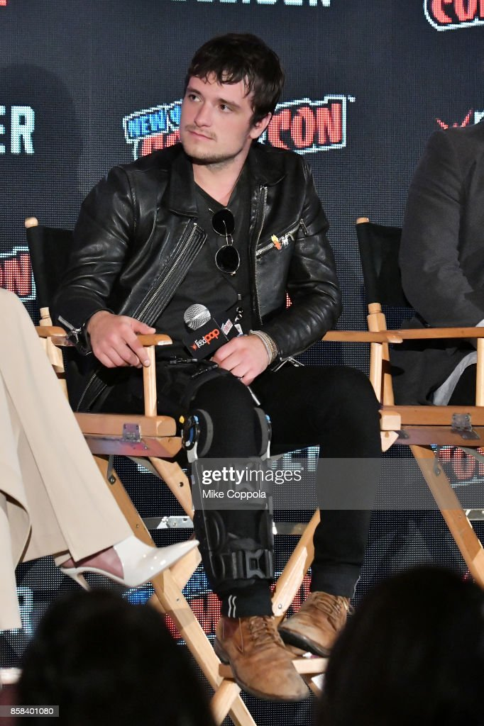 Actor Josh Hutcherson participates in Hulu's Future Man panel at New York Comic Con at Jacob Javits Center on October 6, 2017 in New York City.