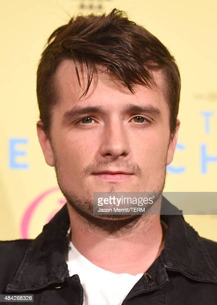 Actor Josh Hutcherson poses in the press room during the Teen Choice Awards 2015 at the USC Galen Center on August 16 2015 in Los Angeles California