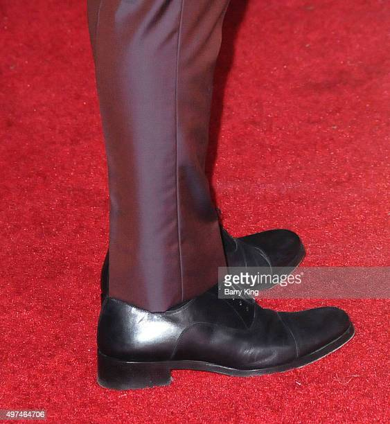 Actor Josh Hutcherson shoe detail attends Premiere Of Lionsgate's 'The Hunger Games Mockingjay Part 2' at Microsoft Theater on November 16 2015 in...