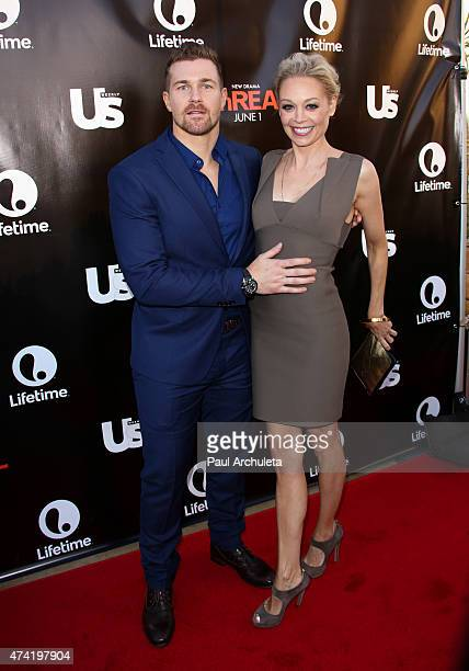 Actor Josh Kelly and Alexandra Holden attend the 'Unreal' premiere party at SIXTY Beverly Hills on May 20 2015 in Beverly Hills California