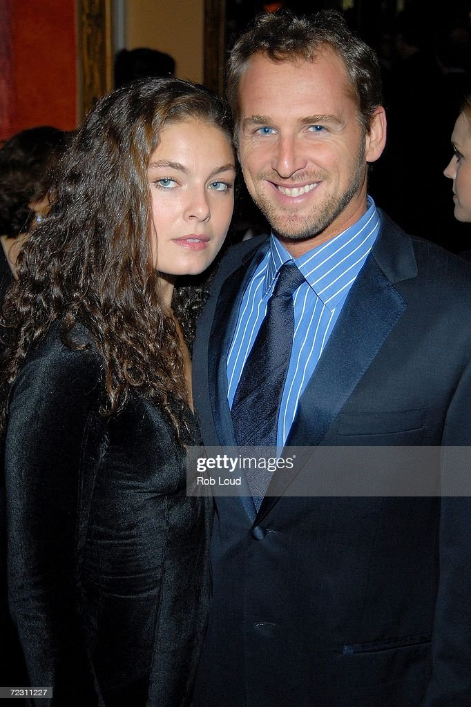 Actor Josh Lucas and an unidentified guest pose at the 4th Annual Lucie Awards in photography at the American Airlines Theatre on October 30, 2006 in New York City.