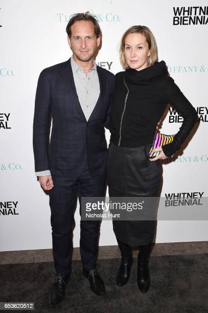 Actor Josh Lucas and Artist Kaari Upson attend the 2017 Whitney Biennial presented by Tiffany & Co. At The Whitney Museum of American Art on March...