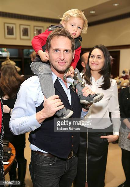 Actor Josh Lucas and Jessica Ciencin Henriquez attend as BROOKS BROTHERS Celebrates The Holidays With St Jude Children's Research Hospital on...