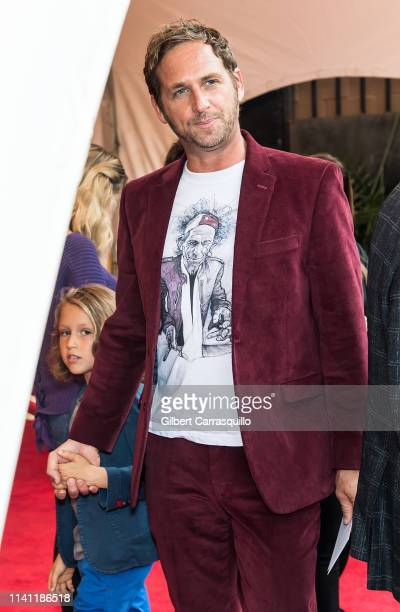 Actor Josh Lucas and son Noah Rev Maurer are seen arriving to The Closing Night Gala Film and World Premiere of 'Yesterday' during the Tribeca Film...