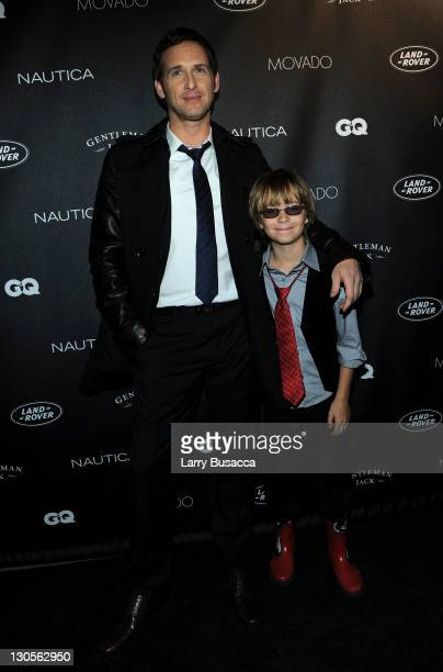 Actor Josh Lucas and Wyatt Workman attend GQ's Gentlemen's Ball Presented By Gentleman Jack Land Rover Movado and Nautica at The Edison Ballroom on...