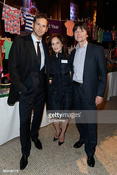 Actor Josh Lucas Julie Deborah Brown and Director Ken Burns attend the 2014 Room To Grow Gala at Capitale on April 8 2014 in New York City