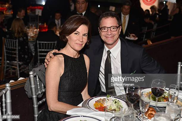 Actor Josh Malina and Melissa Merwin attend the American Friends Of Magen David Adom's Red Star Ball at The Beverly Hilton Hotel on October 22 2015...