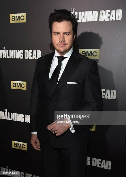 Actor Josh McDermitt attends AMC's 'The Walking Dead' Season 6 Fan Premiere Event 2015 at Madison Square Garden on October 9 2015 in New York City