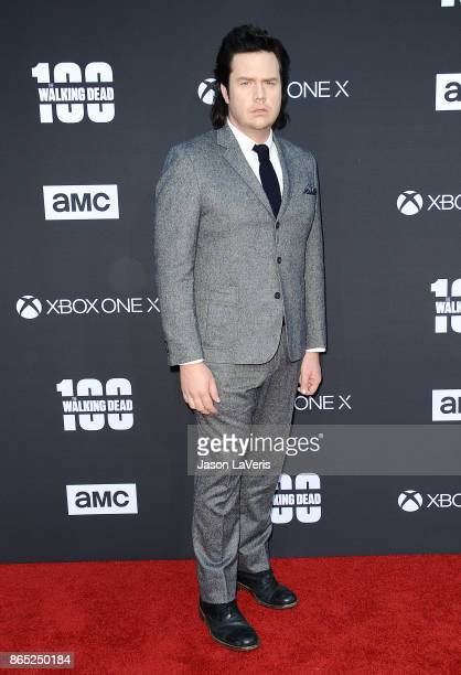Actor Josh McDermitt attends the 100th episode celebration off 'The Walking Dead' at The Greek Theatre on October 22 2017 in Los Angeles California