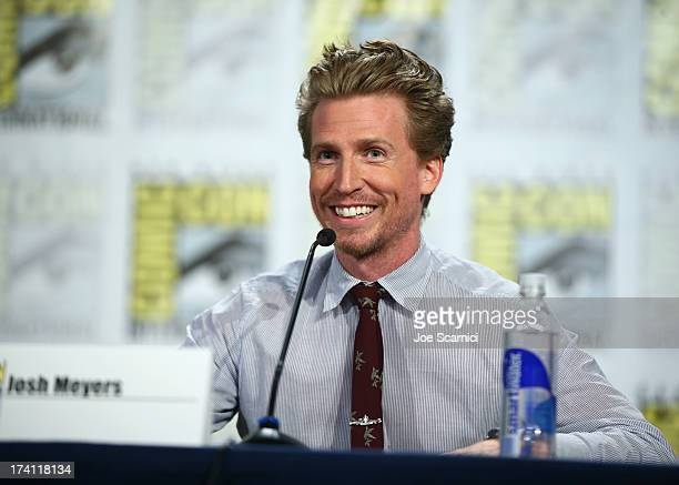 Actor Josh Meyers speaks at The Awesomes ComicCon panel at Hilton Bayfront on July 20 2013 in San Diego California