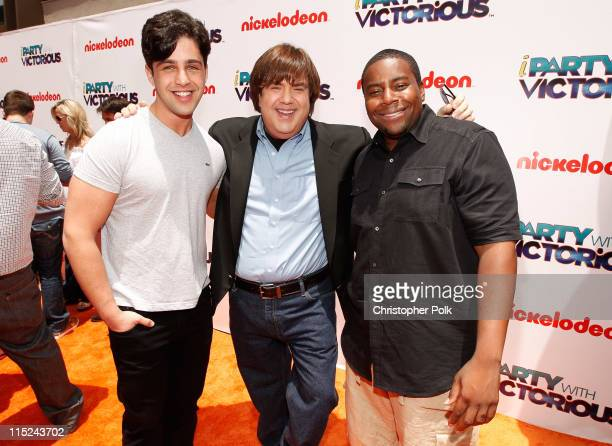 Actor Josh Peck writer/producer Dan Schneider and actor Kenan Thompson arrive at Nickelodeon's exclusive premiere for the upcoming primetime TV event...