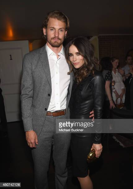 Actor Josh Pence and actress Abigail Spencer attend the after party for SundanceTV's Rectify Season Two at the Chateau Marmont on June 16 2014 in Los...
